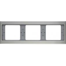 Рамка 3Х нержавіюча сталь, метал матований, горизонтальна, K.5 Berker 13737004