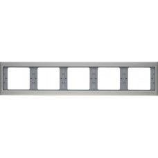 Рамка 5Х нержавіюча сталь, метал матований, горизонтальна, K.5 Berker 13937004