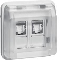 Вставка розетки UAE 8/8-полюсн. экранированная, Кат.6 класс E, белая, W.1 Berker 14103502