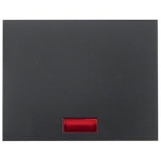 Клавиша 1Х с линзами, антрацитовый, матовый лак, K.1 Berker 14157006