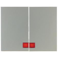 Клавиша 2Х с линзой, нержавеющая сталь, металл матированный, K.5 Berker 14377004