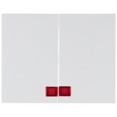 Клавіша 2Х з лінзами, пол.білизна, глянцевий, K.1 Berker 14377009