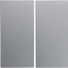Клавиша 2Х, алюминиевый, матовый лак, S.1 Berker 16231404