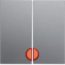 Клавиша 2Х с линзами, алюминиевый, матовый лак, S.1 Berker 16271404