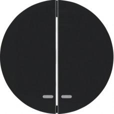 Клавиша 2Х с линзой, черные, R.x Berker 16272045