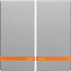 Клавіша 2Х з лінзами, алюмінієвий, бархатний лак, Q.х Berker 16276084