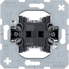 Выключатель/переключатель, одноклавишный, проходной, 10АХ/250В Berker 3036