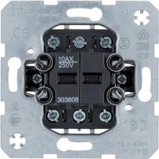Выключатель/переключатель двухклавишный, проходной, 10АХ/250В Berker 303808