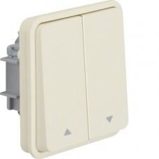 Вставка выключателя для жалюзи 2-клавишная, белая, 10А/250В W.1 Berker 30653512