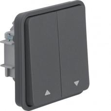 Вставка выключателя для жалюзи 2-клавишная, серая, 10А/250В W.1 Berker 30653515