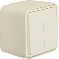 Выключатель 2-клавишный IP55, белый, 10АX/250В W.1 Berker 30753502