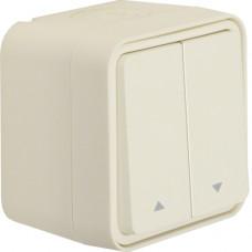 Выключатель для жалюзи 2-клавишный IP55, белый, 10А/250В W.1 Berker 30753522