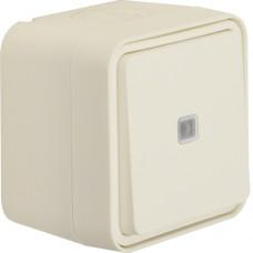 Переключатель с подсветкой IP55, белый, 10АX/250В W.1 Berker 30763522