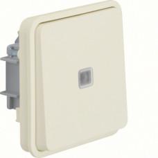 Вставка переключателя с подсветкой, белая, 10АX/250В W.1 Berker 30863522