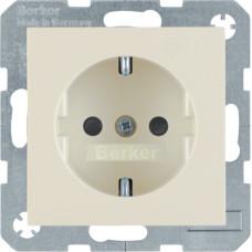 Розетка с з/к, со шторками, белый, глянцевый, 16А/250В S.1 Berker 47238982