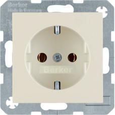 Розетка с з/к, белый, глянцевый, 16А/250В S.1 Berker 47438982