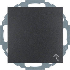 Розетка с з/к, крышка, со шторками, антрацитовый, матовый, 16А/250В S.1 Berker 47441606