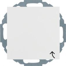 Розетка с з/к, крышка, со шторками, пол.белизна, матовый, 16А/250В S.1 Berker 47441909
