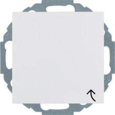 Розетка с з/к, крышка, со шторками, пол.белизна, глянцевый, 16А/250В S.1 Berker 47448989