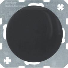 Розетка с з/к, крышка, со шторками, 16А/250В, черная, глянцевая, R.x Berker 47512045
