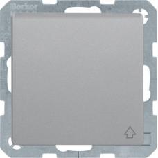 Розетка з з/к з кришкою, 16А/250В, алюмінієвий, бархатний лак, Q.х Berker 47516064