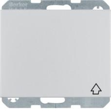 Розетка с з/к, крышка, защ.контактов, анодированный алюминий, алюминиевый, K.5 Berker 47517203