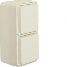 Розетка с з/к двойная вертикальная IP55, белая, 16А/250В W.1 Berker 47703522