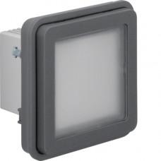 Вставка LED-сигнала белого цвета, серая, 10А/250В W.1 Berker 51733525