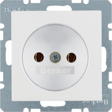 Розетка без з/к, пол.белизна, матовый, 16А/250В S.1 Berker 6167031909