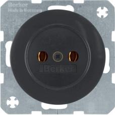 Розетка без з/к, 16А/250В, черная, глянцевая, R.x Berker 6167032045