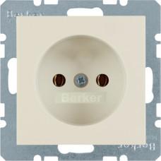 Розетка без з/к, белый, глянцевый, 16А/250В S.1 Berker 6167038982