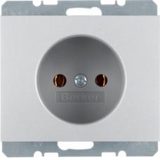 Розетка без з/к, анодированный алюминий, алюминиевый, K.5 Berker 6167157003