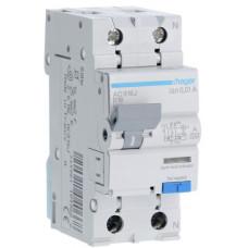 Дифференциальный автоматический выключатель 1+N 6kA B-16A 10mA A 2м Hager AC916J