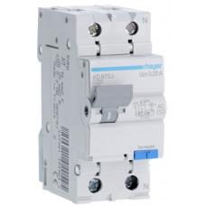 Дифференциальный автоматический выключатель 1+N 4.5kA C-20A 30mA AC 2м Hager AD870J