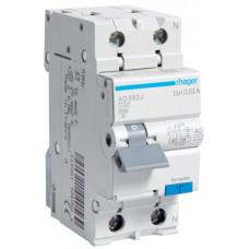 Дифференциальный автоматический выключатель 1+N 4.5kA C-32A 30mA AC 2м Hager AD882J