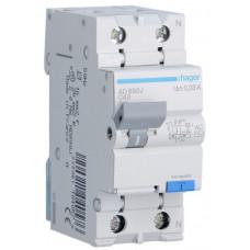 Дифференциальный автоматический выключатель 1+N 4.5kA C-40A 30mA AC 2м Hager AD890J