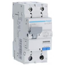 Дифференциальный автоматический выключатель 1+N 6kA B-6A 30mA A 2м Hager AD906J