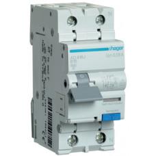 Дифференциальный автоматический выключатель 1+N 6kA B-16A 30mA A 2м Hager AD916J