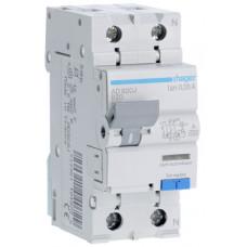 Дифференциальный автоматический выключатель 1+N 6kA B-20A 30mA A 2м Hager AD920J