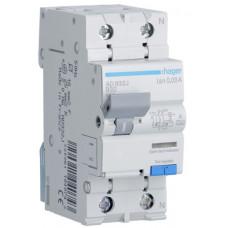 Дифференциальный автоматический выключатель 1+N 6kA B-32A 30mA A 2м Hager AD932J