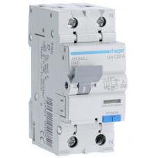 Дифференциальный автоматический выключатель 1+N 6kA B-40A 30mA A 2м Hager AD940J