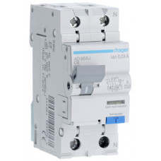 Дифференциальный автоматический выключатель 1+N 6kA C-6A 30mA A 2м Hager AD956J