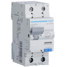 Дифференциальный автоматический выключатель 1+N 6kA C-10A 30mA A 2м Hager AD960J