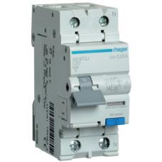 Дифференциальный автоматический выключатель 1+N 6kA C-20A 30mA A 2м Hager AD970J