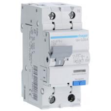 Дифференциальный автоматический выключатель 1+N 6kA C-25A 30mA A 2м Hager AD975J