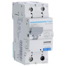 Дифференциальный автоматический выключатель 1+N 6kA C-32A 30mA A 2м Hager AD982J