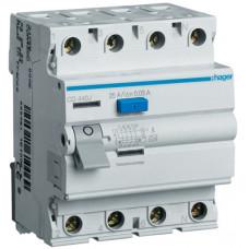 Устройство защитного отключения УЗО 4x40 A, 30 mA, A, 4м Hager CD440J