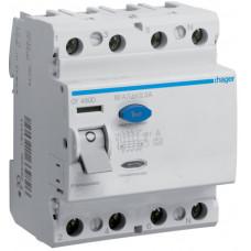Устройство защитного отключения УЗО 4x80 A, 300 mA, A, 4м Hager CF480D