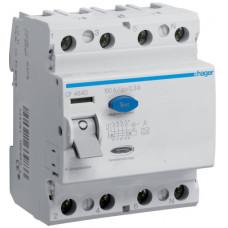 Устройство защитного отключения УЗО 4x100A, 300 mA, A, 4м Hager CF484D