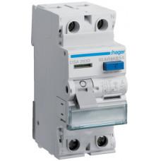 Устройство защитного отключения УЗО 2x63 A, 500 mA, A, 2м Hager CGA263D